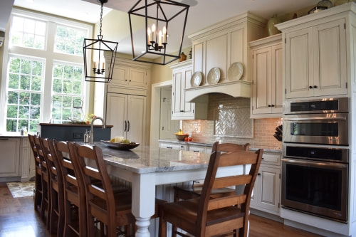 Customized cabinets in a kitchen